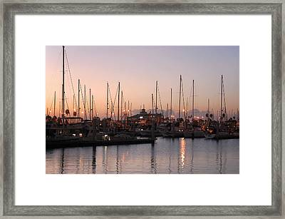 Marina Sunrise 12 Framed Print by Leticia Latocki
