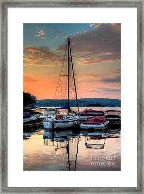 Marina Sunrise Framed Print by Craig Holquist