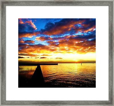 Marina Sunrise Framed Print by John King