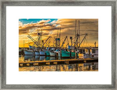 Marina Sunrise Framed Print