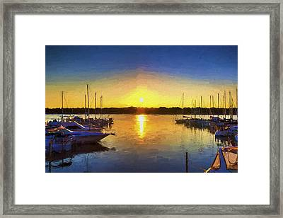 Marina Sunset Framed Print by Five Star Photographics