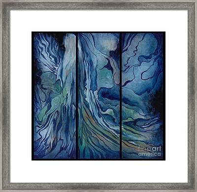 Marina Triptych Framed Print