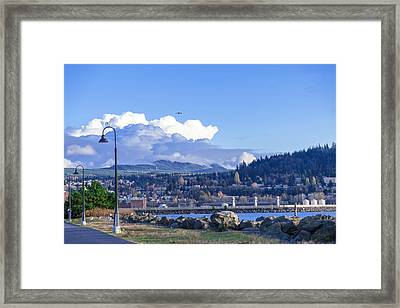 Marina View Framed Print