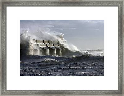 Marina Waves Framed Print by Barry Goble