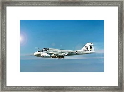 Marine A-6 Intruder Framed Print by Peter Chilelli