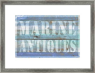 Marine Antiques Framed Print