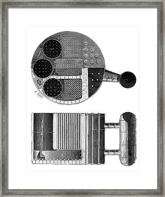 Marine Boiler Framed Print by Science Photo Library