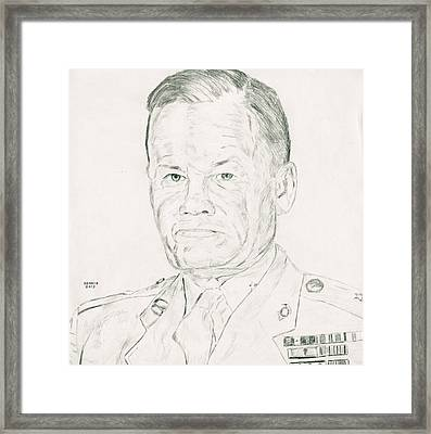 Marine Corps Legend Framed Print by Dennis Larson