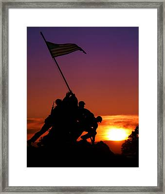 Marine Corps Memorial Framed Print by Mitch Cat