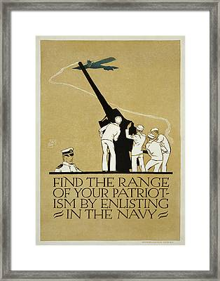 Marine Corps Recruiting Poster From World War II Framed Print by MotionAge Designs