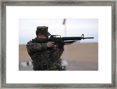Marine Corps Rifle Range Framed Print by Annette Redman