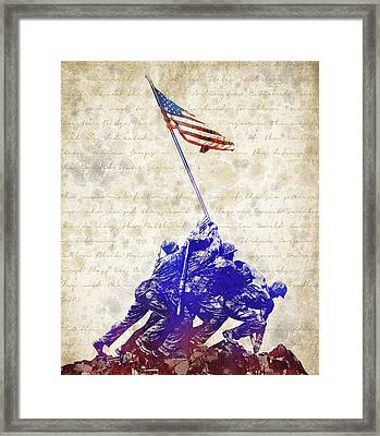 Marine Corps War Memorial Framed Print by Aged Pixel