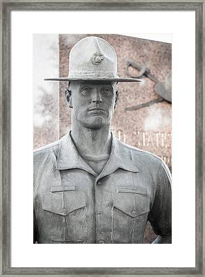 Marine Drill Instructor Framed Print by Roger Clifford