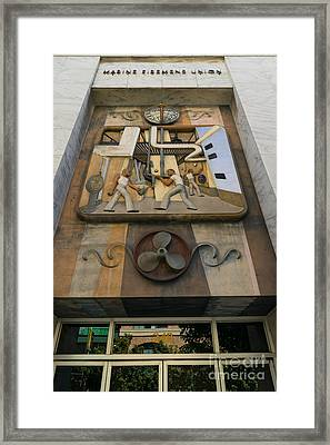 Marine Firemens Union Building In San Francisco California Dsc1204 Framed Print by Wingsdomain Art and Photography