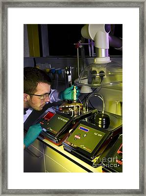 Marine Fuel Analysis Framed Print by Brian Bell