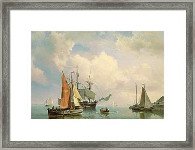 Marine  Framed Print by Johannes Hermanus Koekkoek