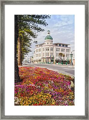 Marine Parade In Spring Napier New Zealand Framed Print