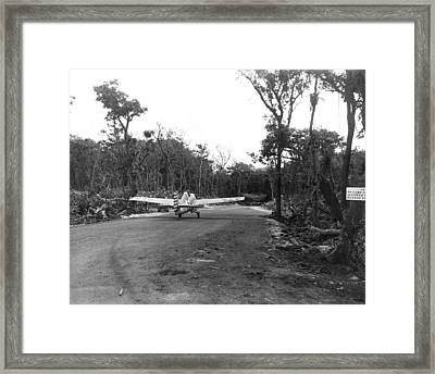 Marine Scout Plane Framed Print by Underwood Archives