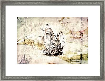 Marine Sea 03 Framed Print