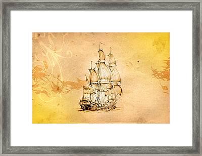 Marine Sea 04 Framed Print