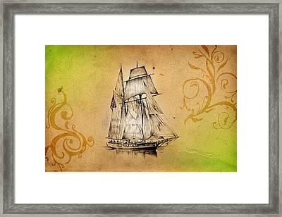 Marine Sea 05 Framed Print
