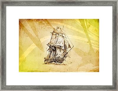 Marine Sea 06 Framed Print