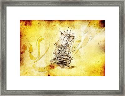 Marine Sea 07 Framed Print