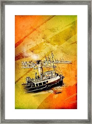 Marine Sea 08 Framed Print