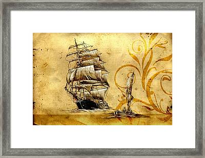 Marine Sea 12 Framed Print