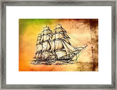 Marine Sea 36 Framed Print