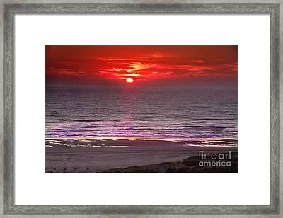 Marine Sunset Framed Print by Robert Bales