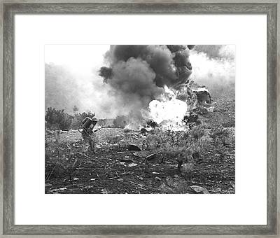 Marine With Flamethrower Framed Print