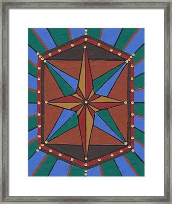 Mariner Rose Framed Print by Barbara St Jean