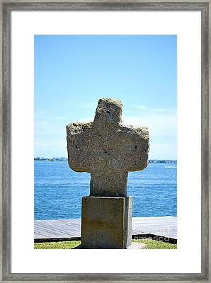Framed Print featuring the photograph Mariners Cross by Bob Sample