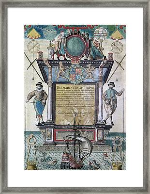 Mariners Mirror, 1588 Framed Print by Granger
