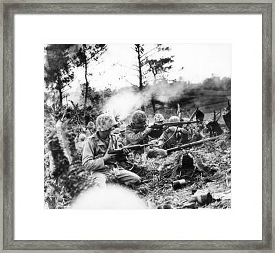 Marines In Okinawa Framed Print