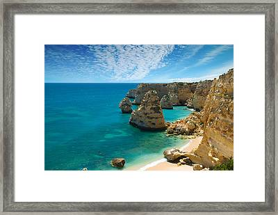 Marinha Cove Algarve Portugal Framed Print