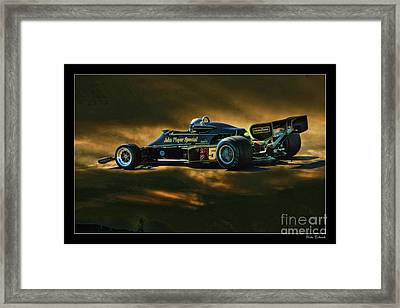 Mario Andretti John Player Special Lotus 79  Framed Print