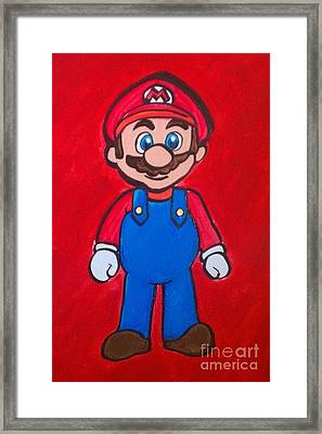 Framed Print featuring the painting Mario by Marisela Mungia