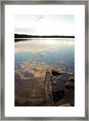Marion Lake Reflections Framed Print
