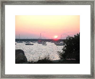 Marion Massachusetts Bay Framed Print by Kathy Barney