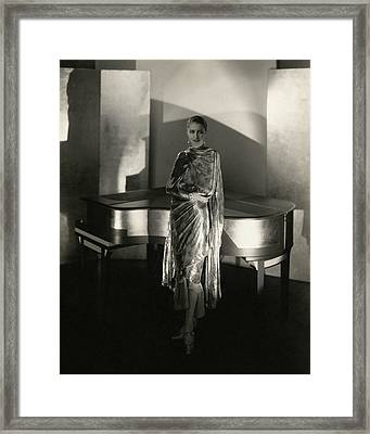 Marion Morehouse By A Piano Framed Print by Edward Steichen