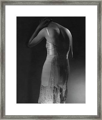 Marion Morehouse Wearing A Corset Framed Print by Edward Steichen