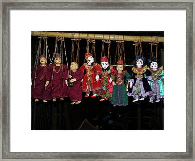 Marionettes For Sale At Bagan Market Framed Print