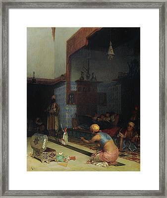 Marionettes In The Harem Framed Print by Celestial Images