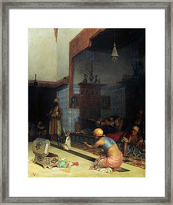 Marionettes In The Harem Framed Print by Theodoros Rallis