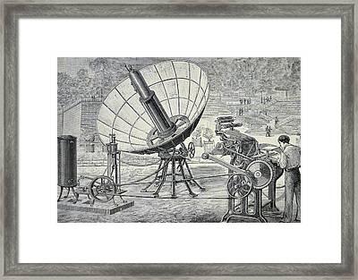 Marioni Printing Press Framed Print