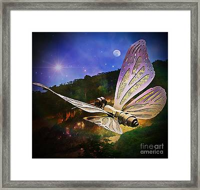 Mariposa Galactica Framed Print by Lilliana Mendez