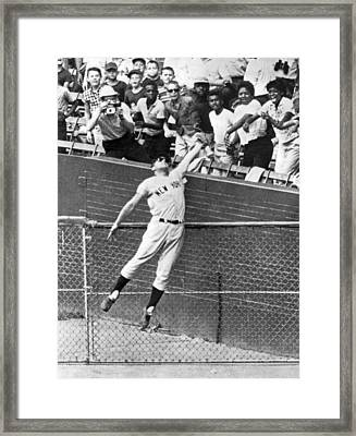 Maris Steals A Home Run Framed Print by Underwood Archives