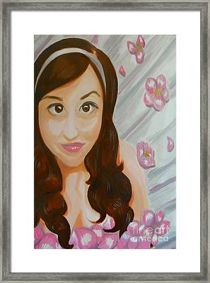 Framed Print featuring the painting Marisela by Marisela Mungia